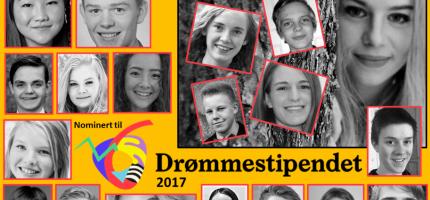Fire hallinger nominert til Drømmestipendet