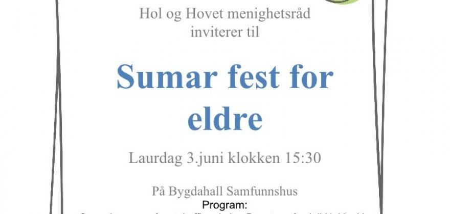 Fest for eldre i Hol og Hovet