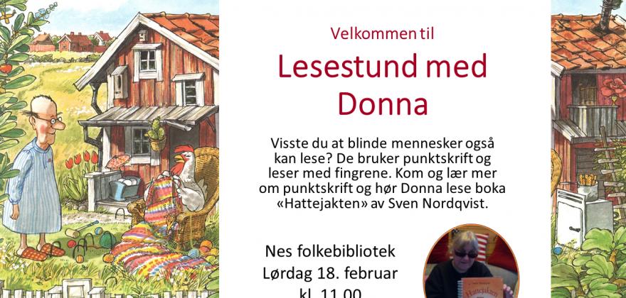 Lesestund med Donna.