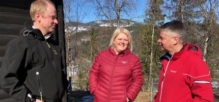 Fiber til øvste gardane i Vestlie på Ål