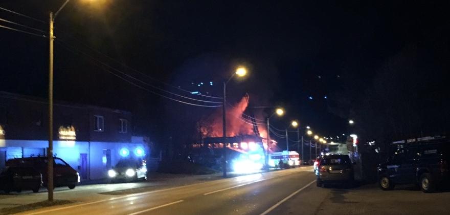 Brann i leilighetsbygg på Geilo