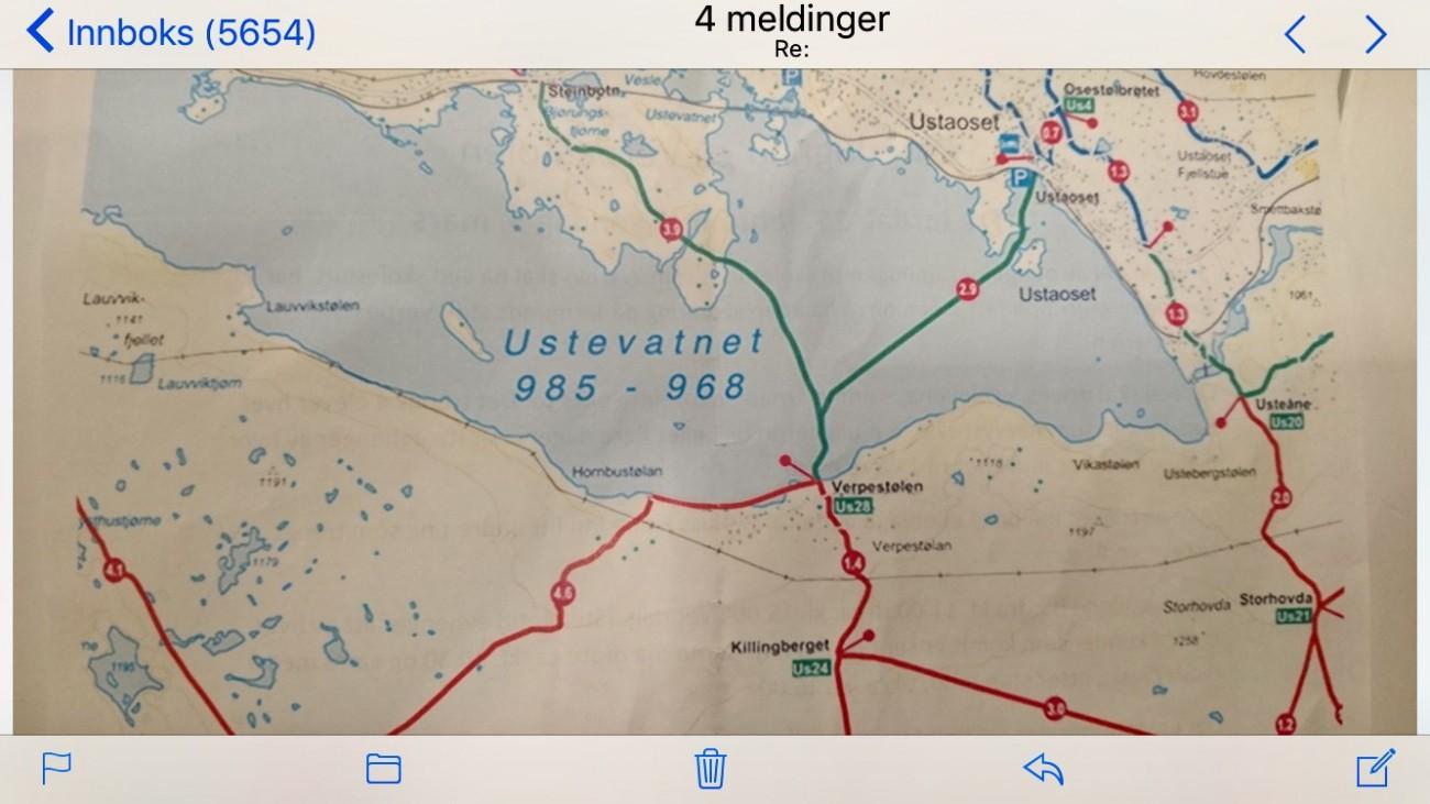 !Kart for å finne fram til Verpestølen. God tur!