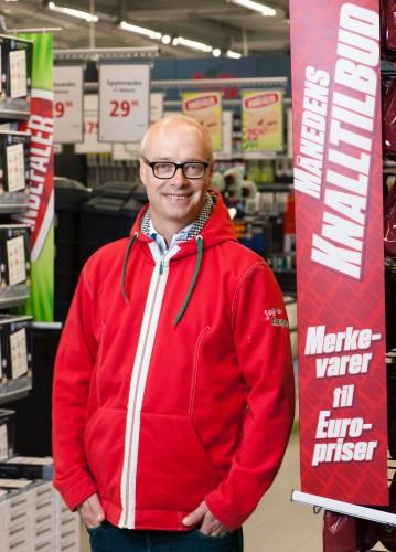 !Administrerende direktør Pål Wibe i Europris står i spissen for den største moderniseringen og oppgraderingen av butikkene i Europris' historie.