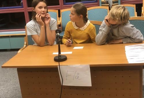 !Flå: Viola Isabell Fjellstad Bråten, Emilie Sønsteby og Jakob Lien.