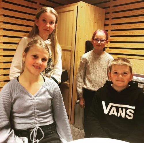 ! LAGET FRA GEILO: (Bak fra venstre) Elsa Gauteplass, Iris Viktoria Sandberg (reserve), Mali Uthus og Olav Asbjørn Fossgård