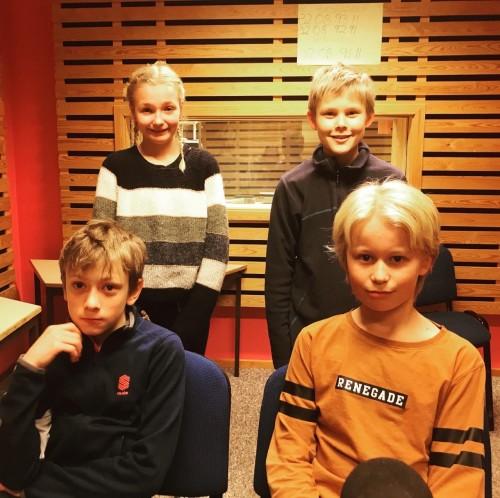 ! LAGET FRA GOL: (Bak fra venstre) Ingrid Mikkelsplass Bjørnebråten (reserve), Vetle Tørrisplass, Håkon Haukestad (foran til venstre) og Samuel Haugeplass